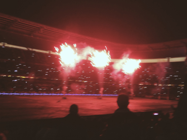 Fireworks after the final at the Stade de France