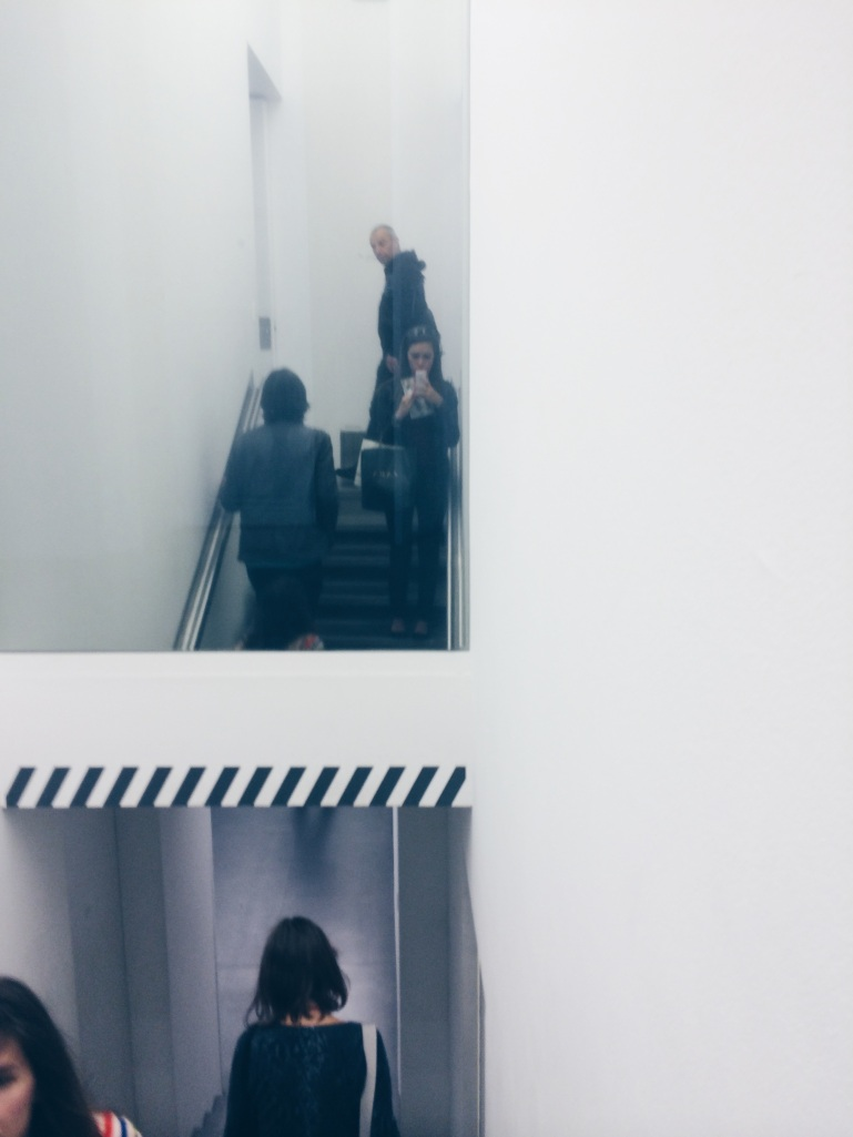 Selfie in the gallery.